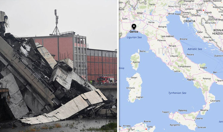 Genoa map: Where is Genoa? Where has the bridge collapsed in Italy ...