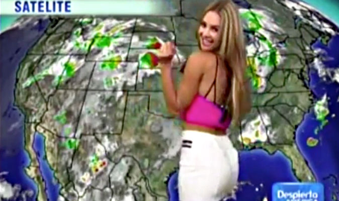 Nake weather girl