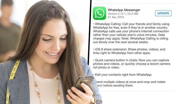 WhatsApp: iPhone adds FREE international calls and new camera features |  Express.co.uk