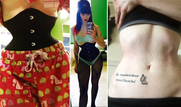 96c33a2f089 PA Real Life. Samantha Malone reduced her waist by five inches by wearing a  corset ...