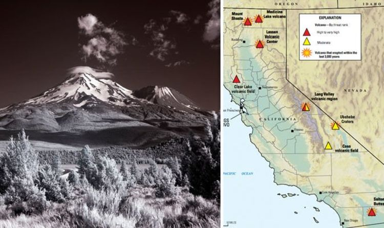 California Volcanoes Mapped The Active Volcanoes That Could