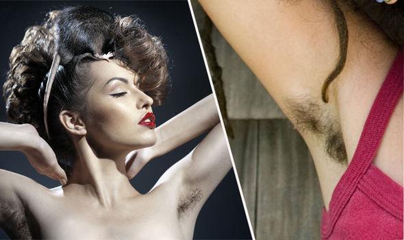 Hairy armpit female video