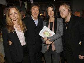 Sir Paul McCartney With His Family At The Cookbook Launch In London S Liberty Store