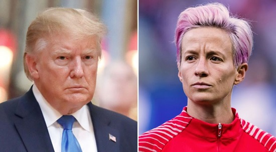 Image result for Trump Nemesis Megan Rapinoe Benched For Big Game Against England
