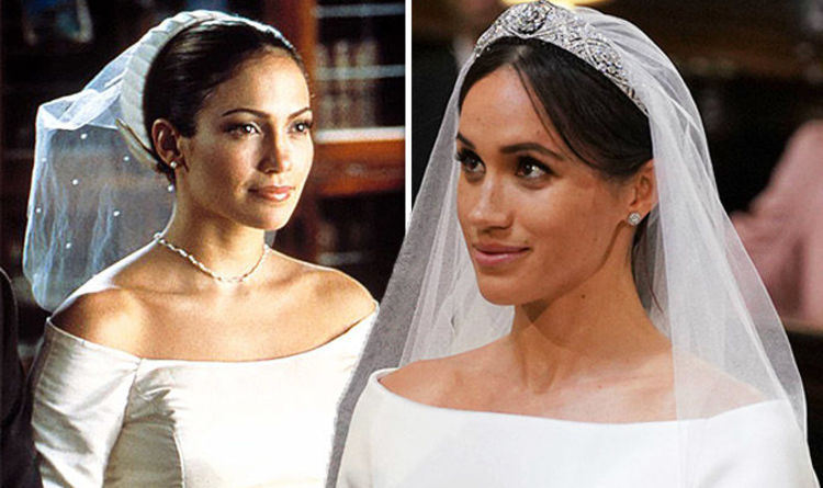 Meghan Markle Wedding Dress Did Jennifer Lopez Wear It First In The Planner Celebrity News Showbiz Tv Express Co Uk