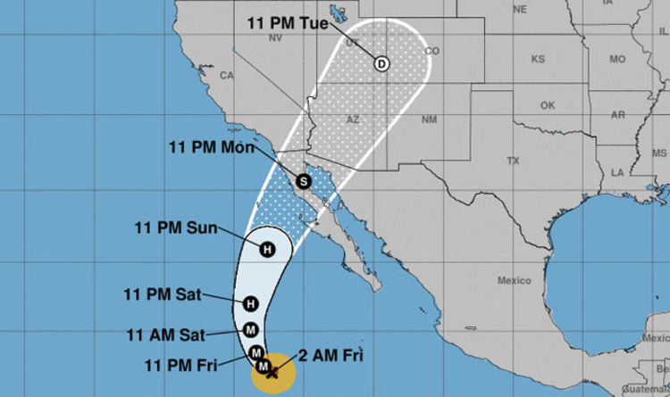 Map Of California And Arizona Together.Hurricane Rosa Tracker Arizona And California In Direct Path Of