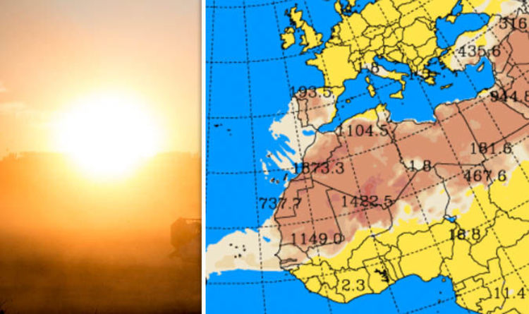 Portugal Spain And America To Be Covered By Sahara Dust Map Shows