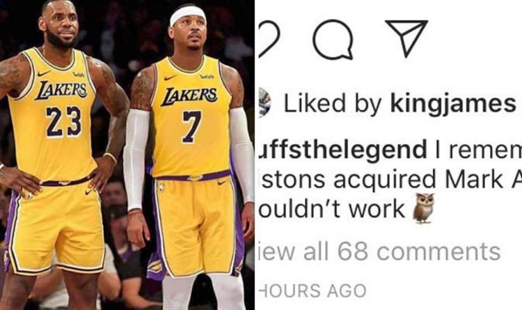 ed0bda20eef Carmelo Anthony to Lakers  LeBron James endorses trade as trainer drops  major hint
