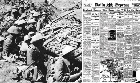 Ww1 The Day War Broke Out Wwi News Express Co Uk