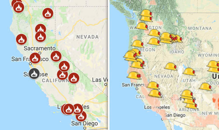 California Fires Map Today Is San Diego Affected Where Are
