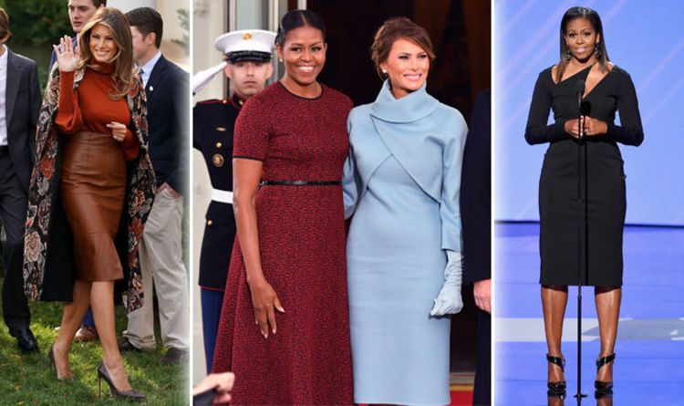 3e6ef30ac54 Melania Trump height  How does Donald s wife compare to former First Lady Michelle  Obama