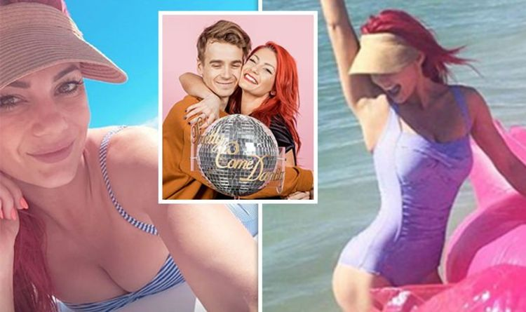 85e1def610 Joe Sugg and Dianne Buswell  Strictly pro tells him  don t worry  in racy  swimsuit snap