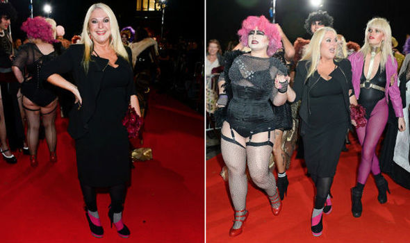 Vanessa Feltz Leads Guests At Rocky Horror Show Anniversary