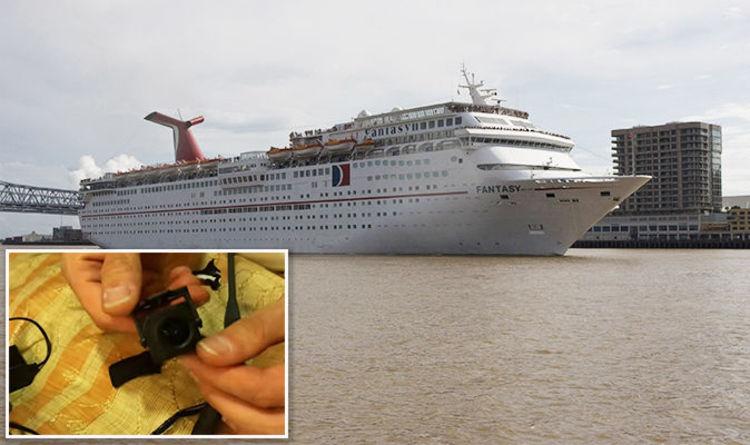 carnival cruise ship couple horrified to spot hidden camera