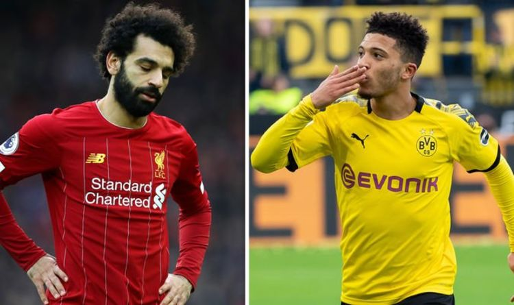 Image result for mohamed salah and Sancho