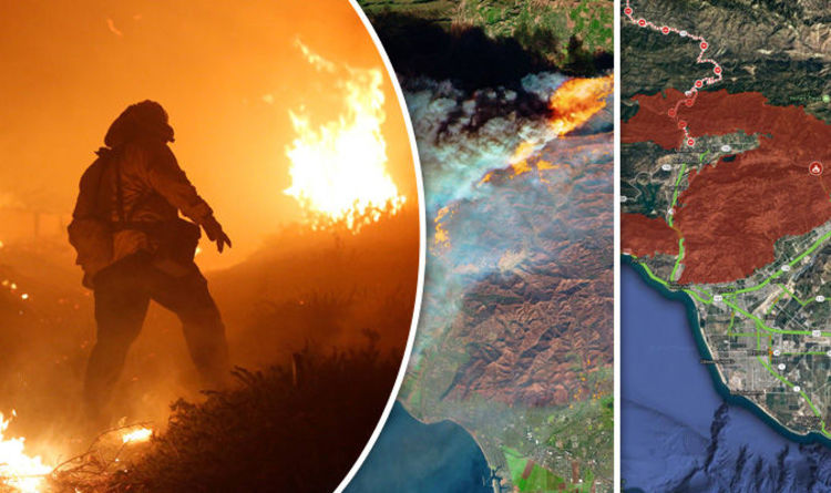 California fires MAP Where are the wildfires in Southern Califorina