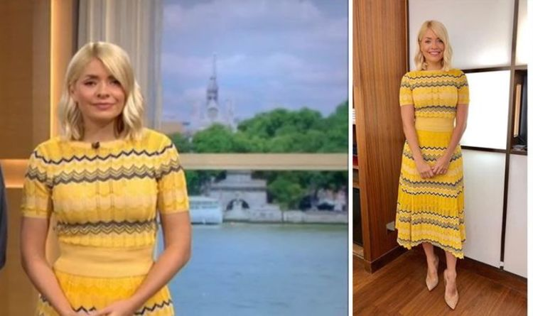 e4b9cfe19200f Holly Willoughby wears pricey matching top and skirt costing £864 on This  Morning today