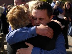 tears as hostages are reunited with families uk news express co uk