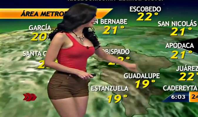 573abf16abf Weather girl Nailé López gets internet hot and bothered with THIS wardrobe  malfunction