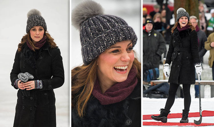4362db2158d Kate Middleton news - Fur bobble hat causes Twitter storm but Palace say  it s faux