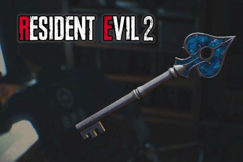 resident evil 2 remake spade key