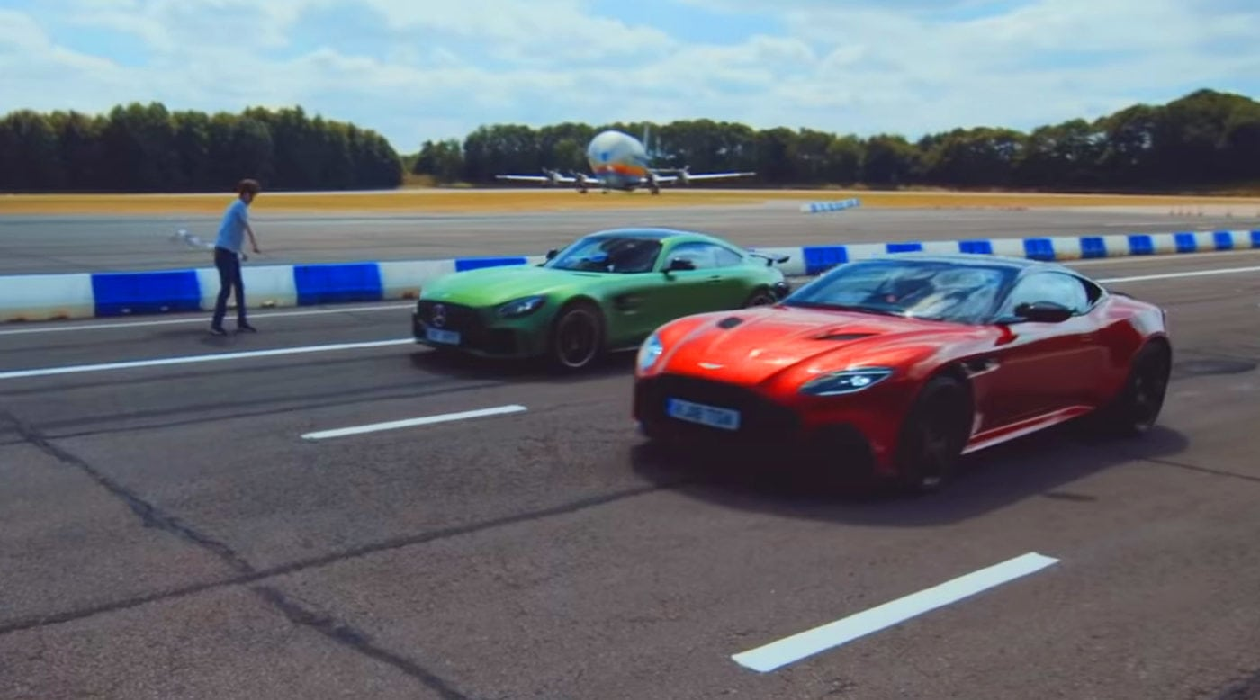Aston Martin Dbs Superleggera Vs Mercedes Amg Gt R Drag Race