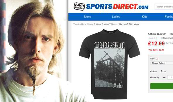 Burzum T-shirt at popular leisurewear store  a21882c86b9f
