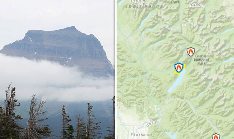 Montana Fires Satellite Map Lake Mcdonald Fire Rages On As Glacier