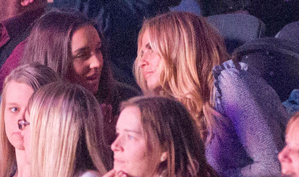 Katie price enjoys friendly chat with emily macdonagh as she attends katie price sits with emily macdonagh at peter andres concert in brighton m4hsunfo
