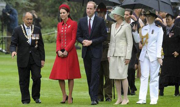 kate new zealand William in and