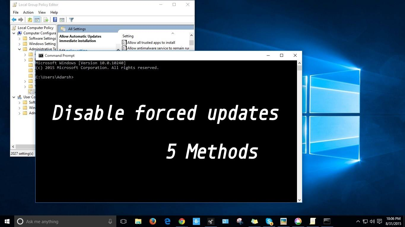 How To Disable Windows 10 Forced Updates - 5 Different Methods