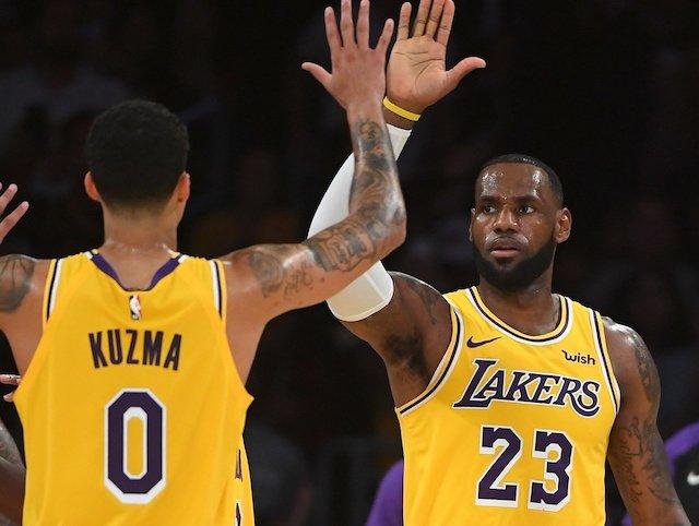8ea0b6862 Lakers News  Kyle Kuzma Calls Relationship With LeBron James  Good ...