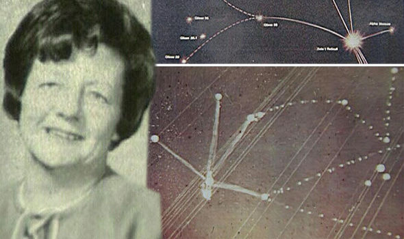Alien location: 'Abducted' woman draws star map of exact