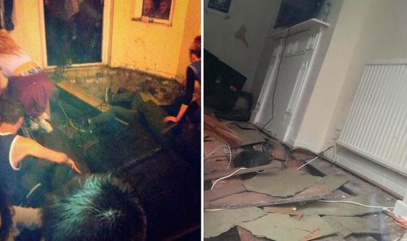 Floor of student house collapses after