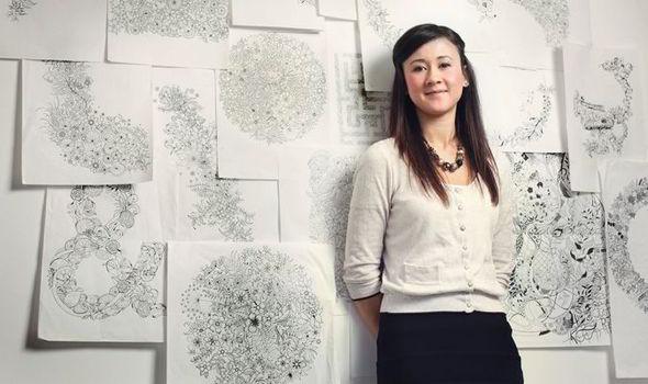 Johanna Basford With Her Illustrations