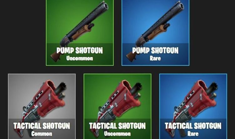 Blue Pump Shotgun In Fortnite Epic Games Update Brings Rarity