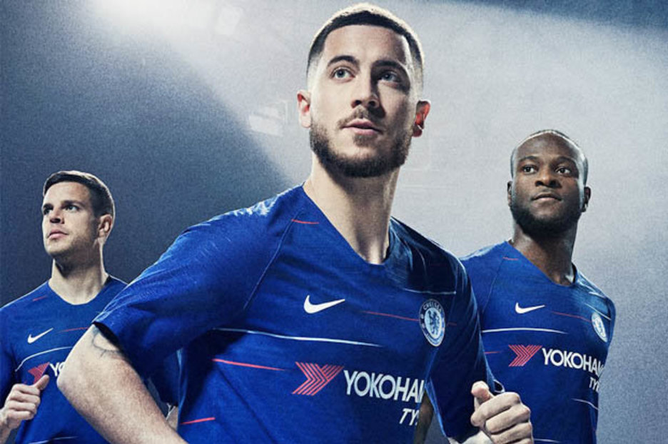 e9556780b Chelsea new home kit DESTROYED by fans as Eden Hazard clue is dropped -  Daily Star
