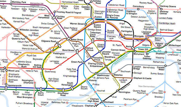 Show Map Of London.Wikipedia User Designs Beautiful New London Tube Map No One Notices