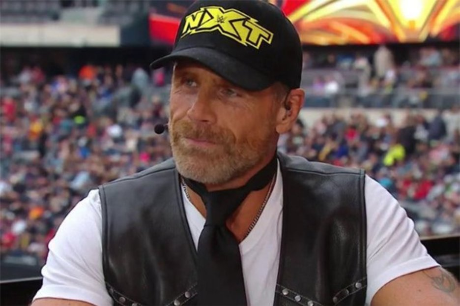 bb20fc9746369 WWE WrestleMania 35 fans BAFFLED by Shawn Michaels  outfit   What on earth  is he wearing