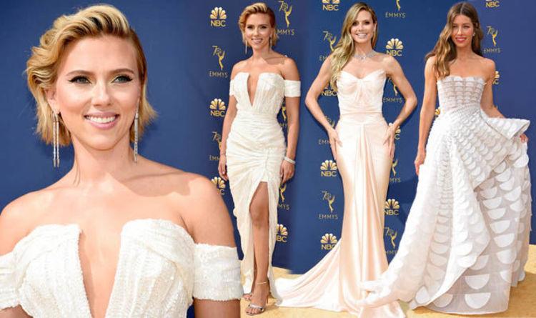 c74eeda369e Emmys 2018  Best dressed stars on the red carpet led by Heidi Klum and  Scarlett Johansson