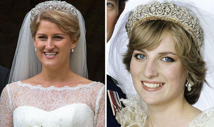 Princess Diana S Niece Sparkles In Her Aunts Tiara On Wedding Day