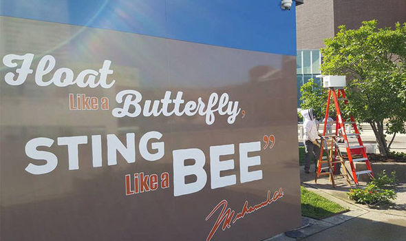 Thousands Of Bees Swarm On Muhammad Ali Float Like A Butterfly
