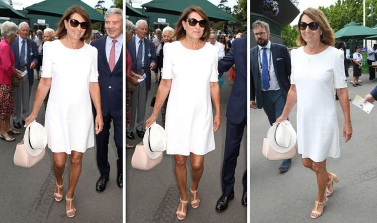 ef21aa60d Carole Middleton: Kate Middleton's mother stuns in white at ...