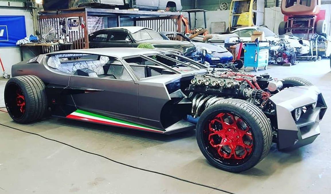 Chopped Lamborghini Espada Hot Rod