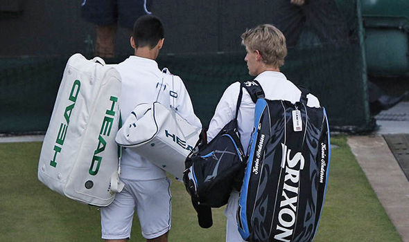 Play Suspended At Two Sets Apiece Between Novak Djokovic And Kevin Anderson Tennis Sport Express Co Uk