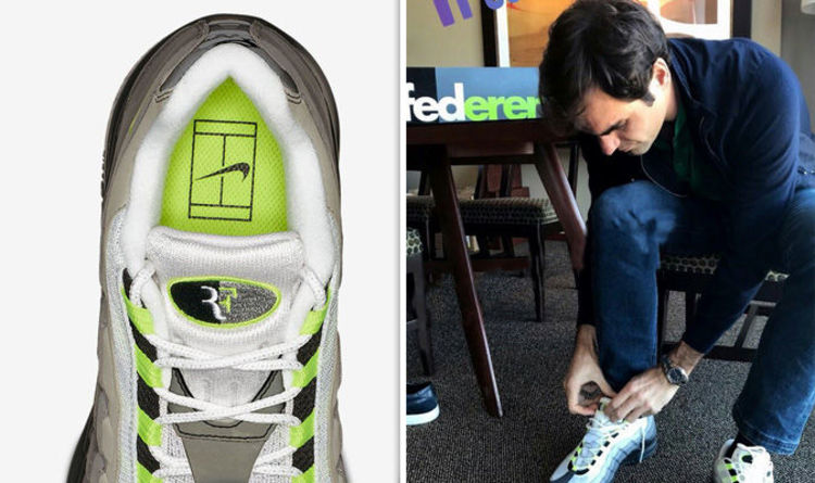sports shoes 7b622 f673b Roger Federer reveals BRAND NEW Nike shoes at Match for Africa