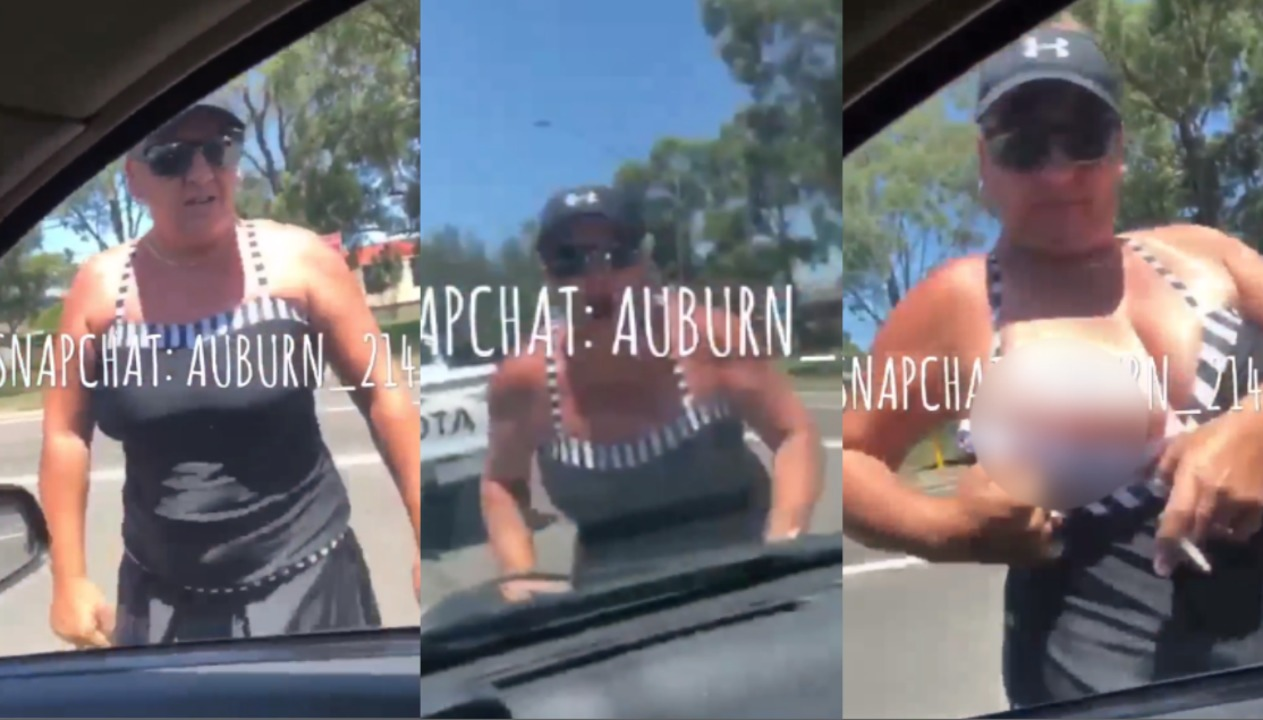 Sydney: Woman flashes BREAST during bizarre road rage rant | Videos |  Express.co.uk