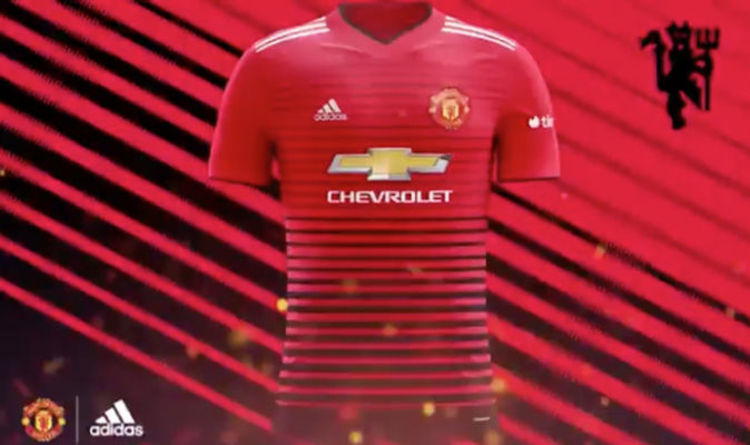 5bfd474ebd7 Man Utd home kit  leaked  video shows how new strip might look – and Tinder  is the sponsor
