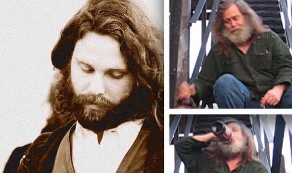 jim morrison in 1970 left and right allegedly as richard in 2009