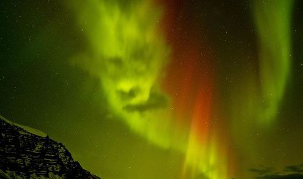Delightful Spooky Northern Lights Face, Northern Lights Face, Northern Lights Head,  Spooky Face Northern Great Pictures